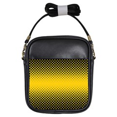 Dot Halftone Pattern Vector Girls Sling Bag