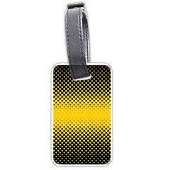 Dot Halftone Pattern Vector Luggage Tags (one Side)