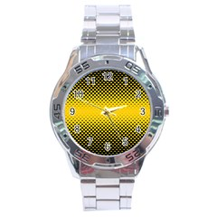 Dot Halftone Pattern Vector Stainless Steel Analogue Watch
