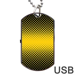 Dot Halftone Pattern Vector Dog Tag Usb Flash (two Sides)