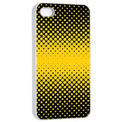 Dot Halftone Pattern Vector Iphone 4/4s Seamless Case (white)