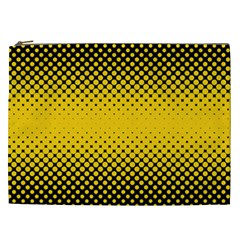 Dot Halftone Pattern Vector Cosmetic Bag (xxl)