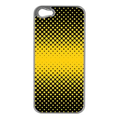 Dot Halftone Pattern Vector Iphone 5 Case (silver)