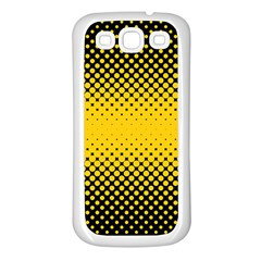 Dot Halftone Pattern Vector Samsung Galaxy S3 Back Case (white)