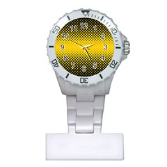 Dot Halftone Pattern Vector Plastic Nurses Watch
