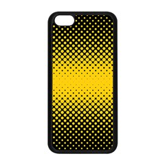 Dot Halftone Pattern Vector Iphone 5c Seamless Case (black)