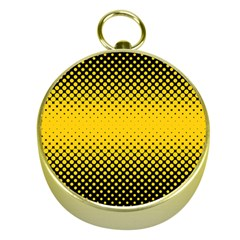 Dot Halftone Pattern Vector Gold Compasses
