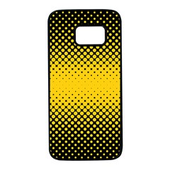 Dot Halftone Pattern Vector Samsung Galaxy S7 Black Seamless Case