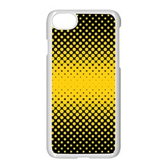 Dot Halftone Pattern Vector Iphone 8 Seamless Case (white)