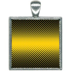 Dot Halftone Pattern Vector Square Necklace