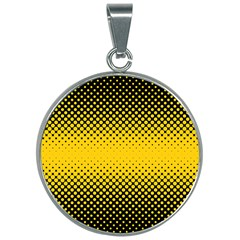 Dot Halftone Pattern Vector 30mm Round Necklace