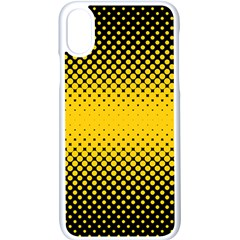 Dot Halftone Pattern Vector Iphone Xs Seamless Case (white)