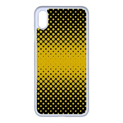 Dot Halftone Pattern Vector Iphone Xs Max Seamless Case (white)