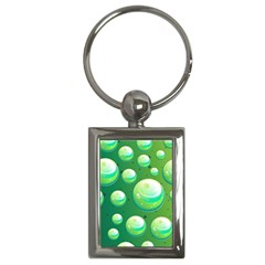 Background Colorful Abstract Circle Key Chains (rectangle)