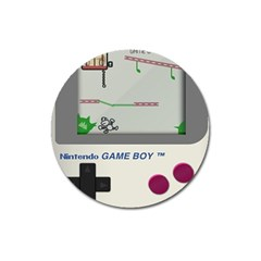 Game Boy White Magnet 3  (round)