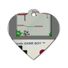 Game Boy White Dog Tag Heart (two Sides)