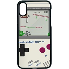 Game Boy White Iphone Xs Seamless Case (black)