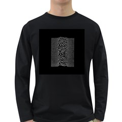 Grayscale Joy Division Graph Unknown Pleasures Long Sleeve Dark T Shirt