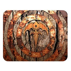 Queensryche Heavy Metal Hard Rock Bands Logo On Wood Double Sided Flano Blanket (large)