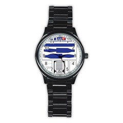 R2 Series Astromech Droid Stainless Steel Round Watch