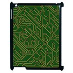Circuit Board Electronics Draft Apple iPad 2 Case (Black) Front