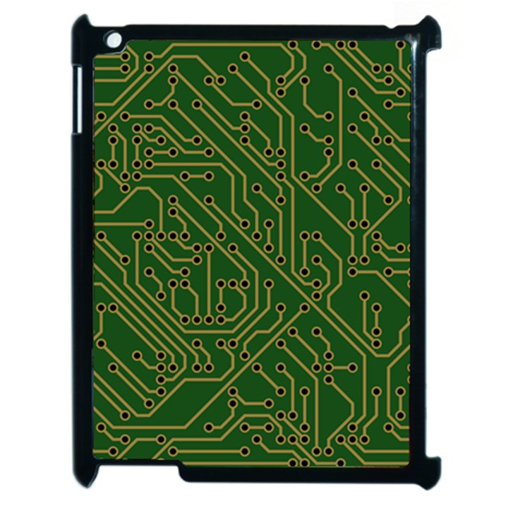 Circuit Board Electronics Draft Apple iPad 2 Case (Black)