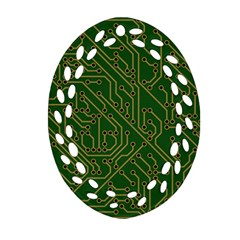 Circuit Board Electronics Draft Oval Filigree Ornament (two Sides)