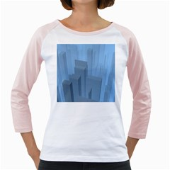 City Contemporary Modern Futuristic Girly Raglan