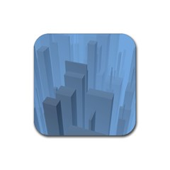 City Contemporary Modern Futuristic Rubber Coaster (square)