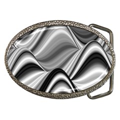 Waves Black And White Modern Belt Buckles by Pakrebo