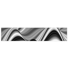 Waves Black And White Modern Small Flano Scarf