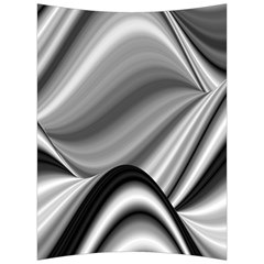 Waves Black And White Modern Back Support Cushion