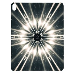 Abstract Fractal Pattern Lines Apple Ipad Pro 10 5   Black Frosting Case