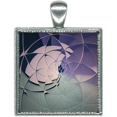 Digital Art Art Artwork Abstract Square Necklace