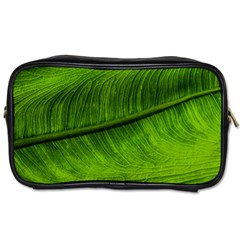 Green Leaf Plant Freshness Color Toiletries Bag (two Sides)