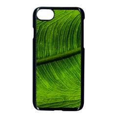 Green Leaf Plant Freshness Color Iphone 7 Seamless Case (black)