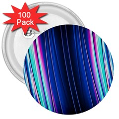 Abstract Fractal Pattern Lines 3  Buttons (100 Pack)