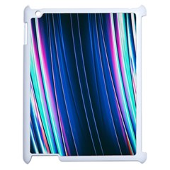 Abstract Fractal Pattern Lines Apple Ipad 2 Case (white)