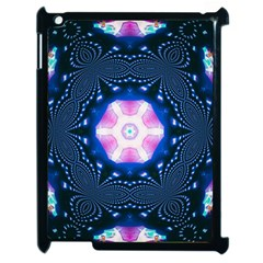 Abstract Fractal Pattern Colorful Apple Ipad 2 Case (black)