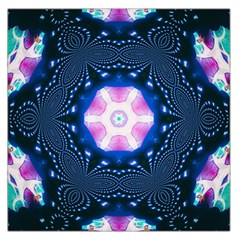 Abstract Fractal Pattern Colorful Large Satin Scarf (square)