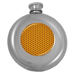 Digital Art Art Artwork Abstract Round Hip Flask (5 Oz)