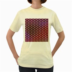 Texture Background Pattern Women s Yellow T Shirt