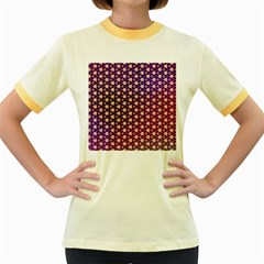 Texture Background Pattern Women s Fitted Ringer T Shirt
