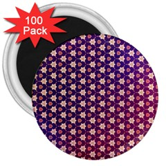 Texture Background Pattern 3  Magnets (100 Pack)