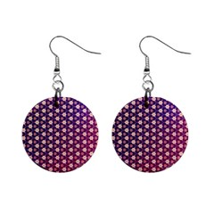 Texture Background Pattern Mini Button Earrings