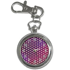 Texture Background Pattern Key Chain Watches