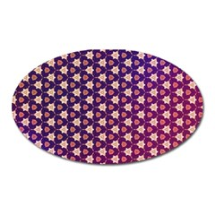 Texture Background Pattern Oval Magnet