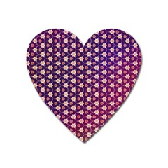 Texture Background Pattern Heart Magnet
