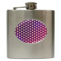 Texture Background Pattern Hip Flask (6 Oz)