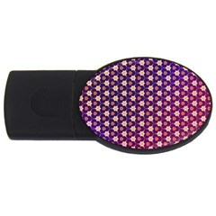 Texture Background Pattern Usb Flash Drive Oval (2 Gb)